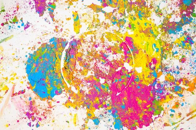 Coloridos borrones de diferentes colores secos
