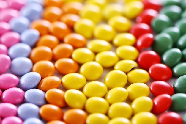Coloridos dulces glaseados