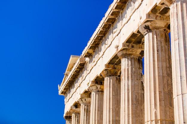 Columnas antiguas en grecia