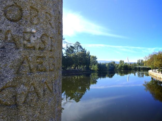 Columnas conmemorativas del puente de trajano en chaves portuga