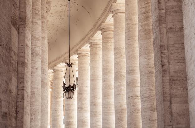Columnas de la plaza de san pedro