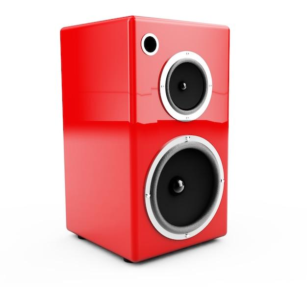 Columnas rojas sobre un fondo blanco 3d render