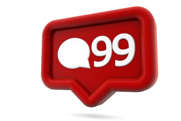 Comentarios icono de notificación de redes sociales