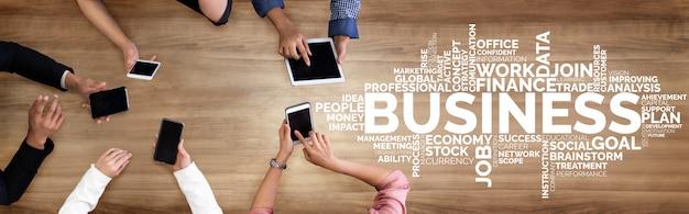 Comercio de negocios finanzas y concepto de marketing.