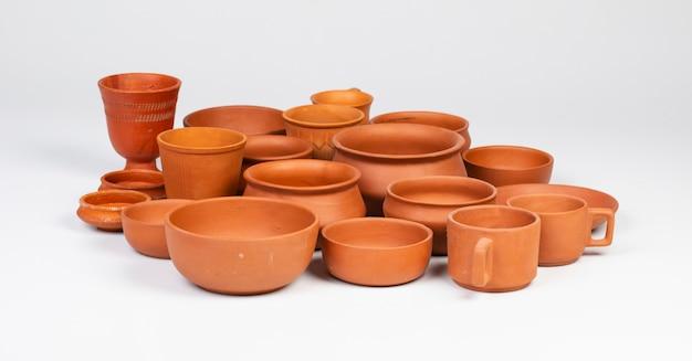 Comida y bebida cerámica de cerámica en blanco