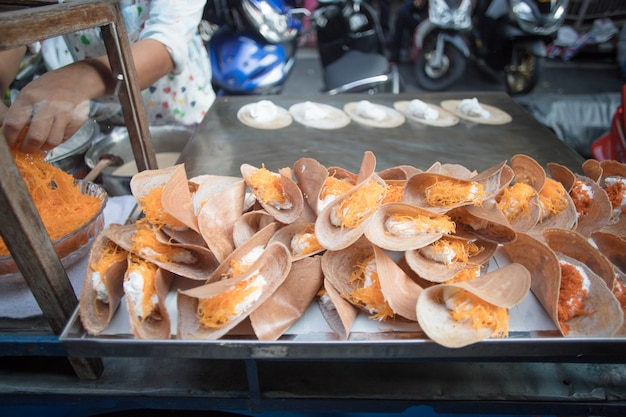 Comida en la calle de bangkok