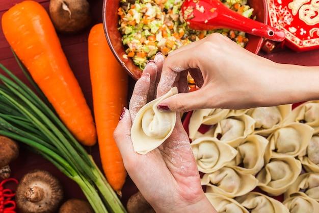 Comida china: bolas de masa para las fiestas tradicionales chinas