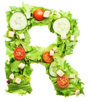 Comida fresca para la letra r