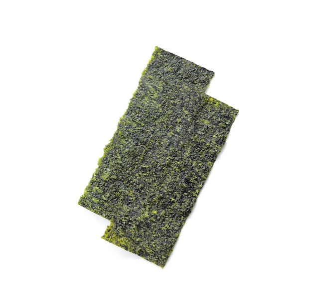 Comida japonesa algas nori secas o algas comestibles