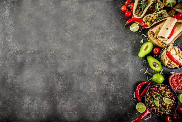 Comida mexicana . comida del cinco de mayo.