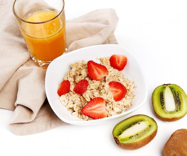 Comida sana en blanco