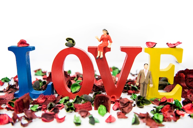 Composición abstracta del amor. concepto de amor