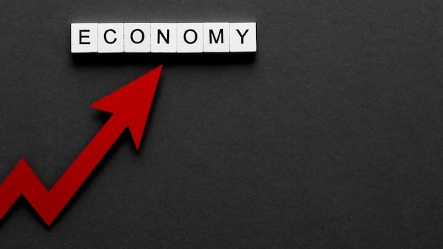 Composición abstracta de crisis financiera con espacio de copia