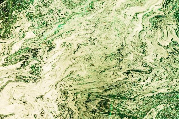 Composición abstracta verde y blanca