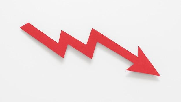 Composición abstracta vista superior de crisis financiera