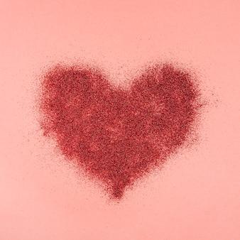 Composición adorable con corazón