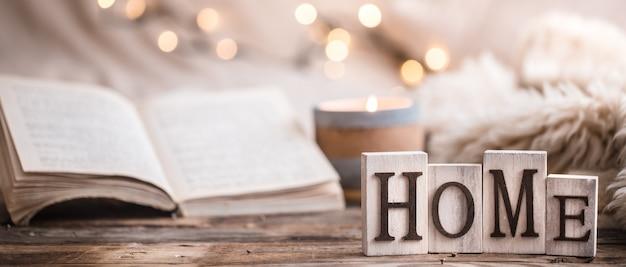 Composición ambiente festivo hogareño