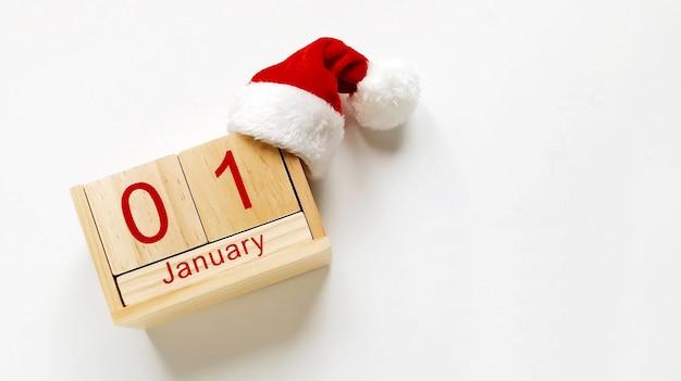 Composición de año nuevo, calendario del 1 de enero