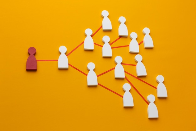 Composición de bodegones de concepto de redes