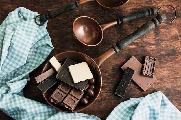 Composición de chocolate deliciosa