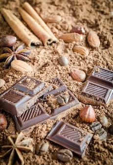 Composición de chocolate