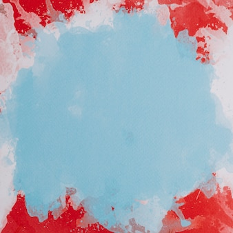 Composición colorida con pinceladas en acuarela