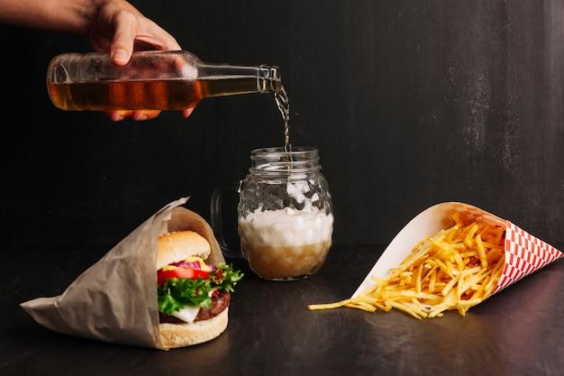 Composición de comida rápida