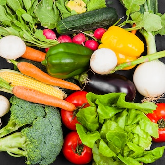 Composición de comida sana