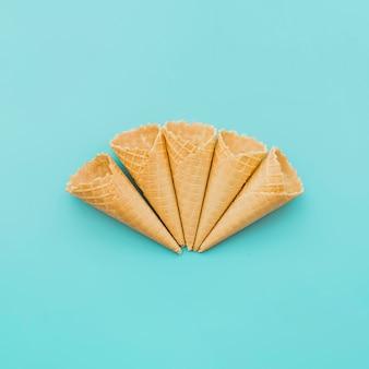 Composición de los conos de galleta vacíos.
