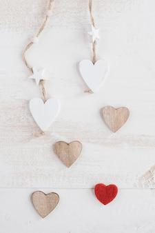 Composición del corazón para el día de san valentín
