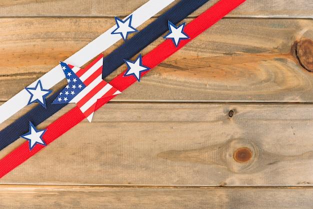 Composición creativa de la bandera de estados unidos.