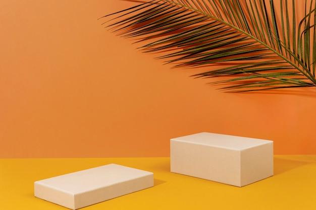 Composición creativa de escenario minimalista.