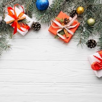 Composición decorativa de navidad