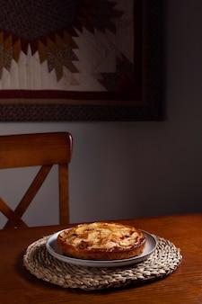 Composición deliciosa tarta de manzana
