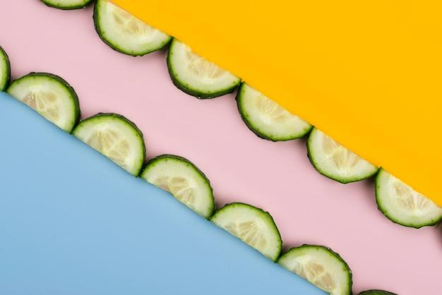 Composición de deliciosas verduras frescas.