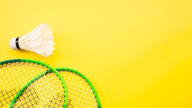 Composición de deporte con elementos de badminton