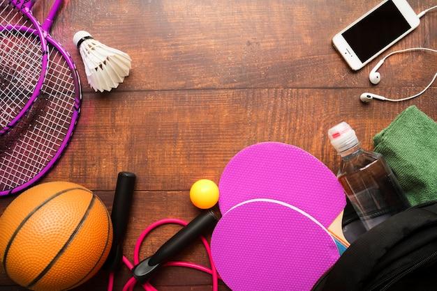 Composición de deporte con elementos modernos