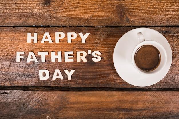 Composición para el día del padre con café