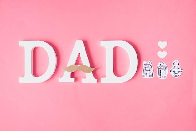 Composición para el día del padre con letras