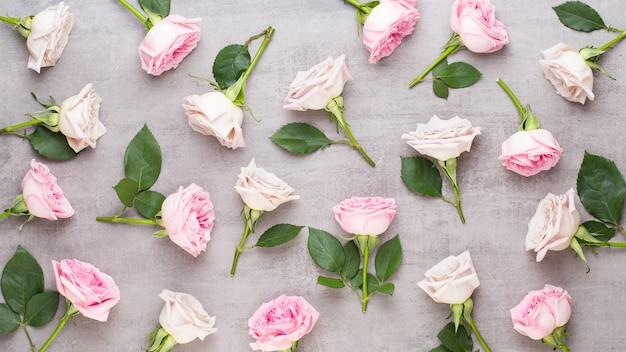 Composición del día de san valentín de flores.