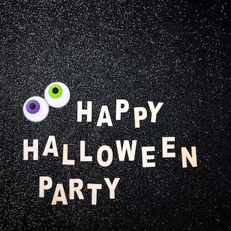 Composición divertida fiesta de feliz halloween