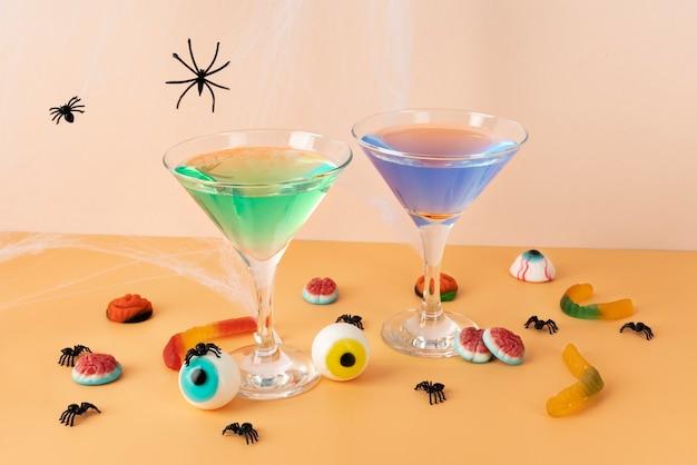 Composición de elementos creativos de halloween.
