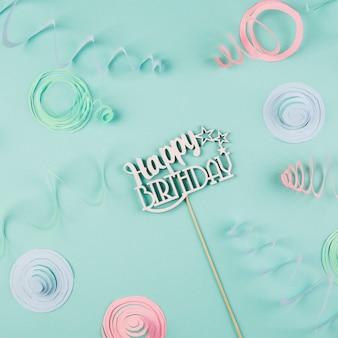 Composición de elementos de cumpleaños