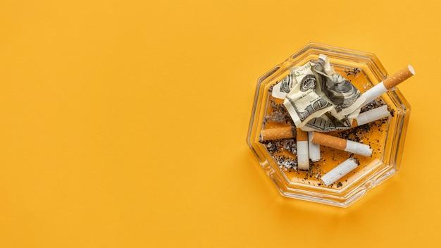 Composición de elementos del día sin tabaco.
