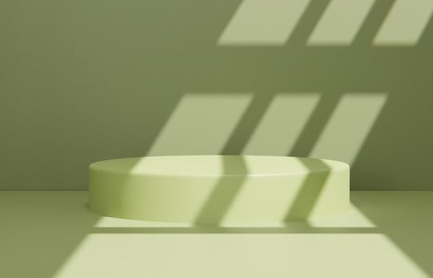 Composición de escena minimalista para presentación de producto.