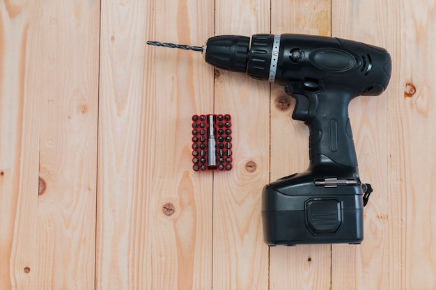 Composición flat lay de herramientas