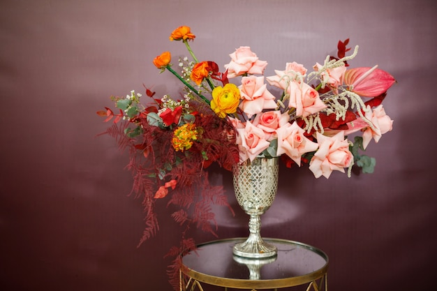 Composición de flores