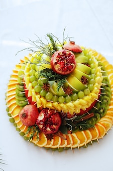Composición de la fruta.