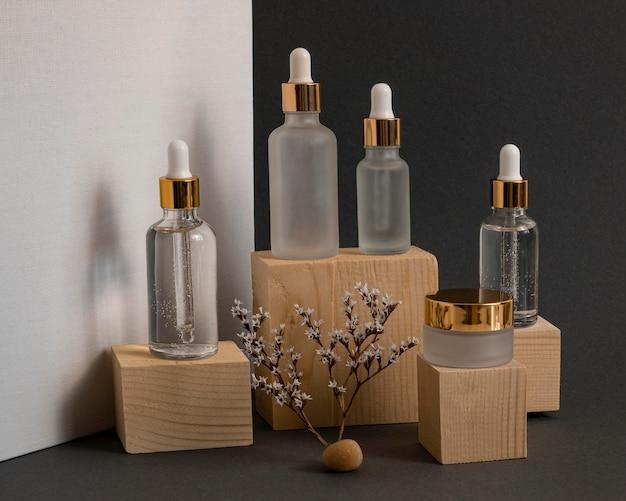 Composición de goteros de aceite de piel