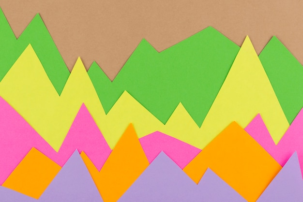 Composición de gráficos de papel de naturaleza muerta